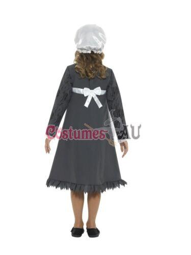 Girls Historical Victorian Poor Maid Olden Day Costume Book Week Fancy Dress