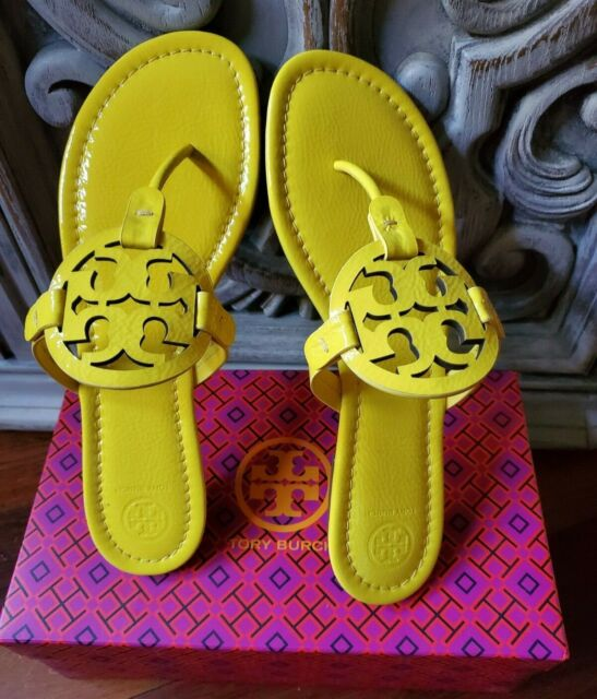 Tory Burch MILLER Patent Leather - LIMONE (Yellow) Size 11 Brazil NEW in Box