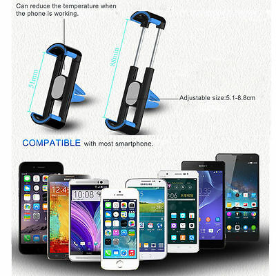 Universal 360° Rotating  Car Air Vent Mount Cradle Holder for Mobile Phone GPS