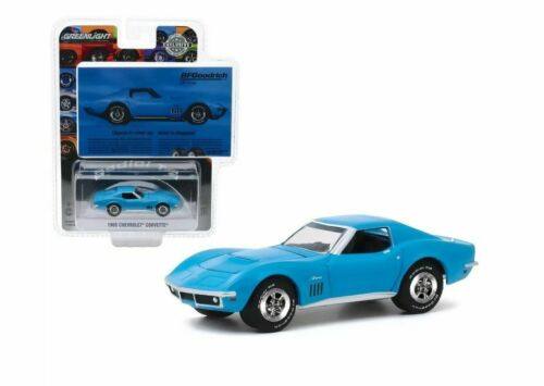 Objects in Mirror Disappear ** Greenlight Ad Cars 1:64 1969 Chevrolet Corvette