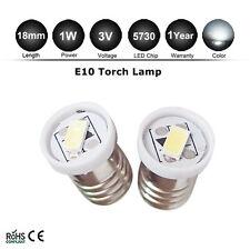 2PCS E10 LED Screw Base Indicator Bulb Cold White 3V for Torch bike bicycle 5730