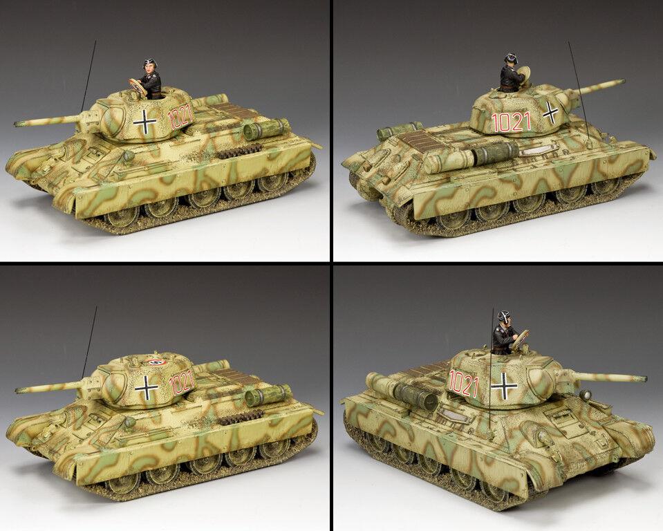King & Country WW2 Deutsche Armee WS332 Sowjet Panzer Abgefangener Version MIB