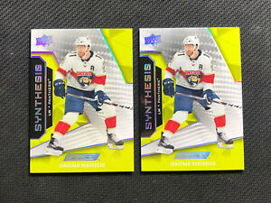 2019-20 UPPER DECK ENGRAINED JONATHAN HUBERDEAU LOT OF 2 SYNTHESIS #S-39