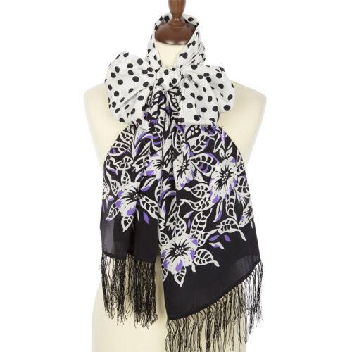1660-18 authentique Pavlovo Posad 100/% soie floral foulard russe Châle 190 Cm Cadeau