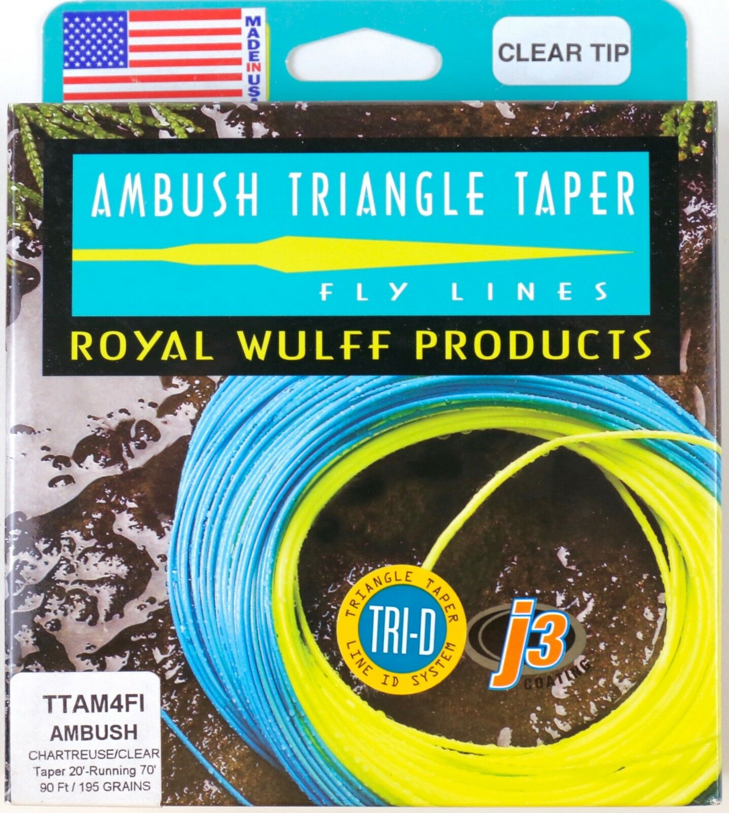Royal Wulff Ambush Taper Clear Tip 4 Weight Fly Line Free Fast Shipping TTAM4FI
