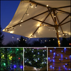 Solar String Lights Outdoor Patio : 100 LED SOLAR OUTDOOR GARDEN PATIO DECKING WEDDING PARTY FAIRY STRING LED LIGHTS eBay