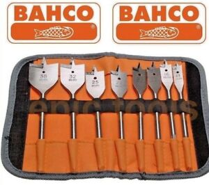 Bahco-8-Piezas-13-38mm-Madera-Plano-Fresadora-Juego-de-Brocas-amp