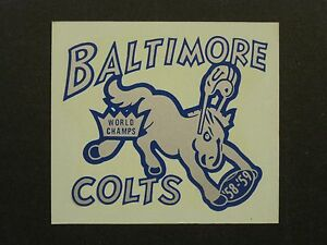 VINTAGE-BALTIMORE-COLTS-039-58-039-59-WORLD-CHAMPS-DECAL