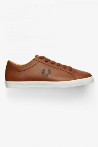 Mens Fred Perry Trainers - Baseline Leather Tan B6158 448