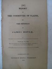 Government Doc. Committee Claims James Doyle Counterfeiting North Carolina 1814
