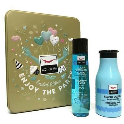 Cofanetto AQUOLINA Zucchero a Velo bagno doccia 250ml + acqua profumata corpo | eBay