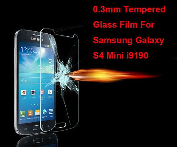 Premium Tempered Glass Film Screen Protector for Samsung Galaxy S4 Mini i9190