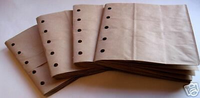 6X6 SEWN paper bag scrapbook albums journal collage 4 books brown