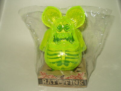 Secret Base made in Japan RAT FINK X-RAY neon green Soft Vinyl Figure