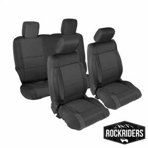 Jeep Wrangler Seat Covers >> Details About 2007 2012 Jeep Wrangler Jk 2 Door Neoprene Front Rear Seat Covers In Black