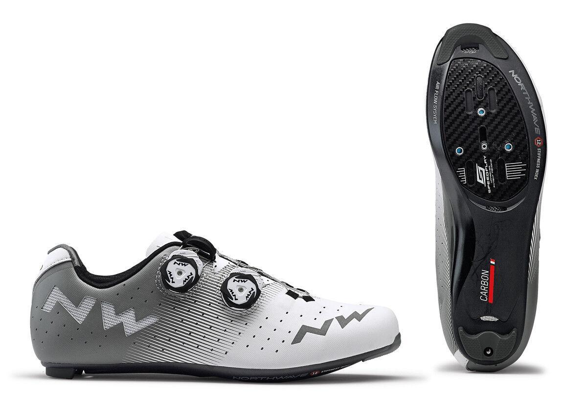 Northwave revolución bicicleta bicicleta zapatos blancoo gris 2019
