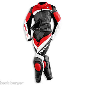 DUCATI-Dainese-CORSE-Damen-Lederkombi-Kombi-Leather-Suit-schwarz-rot-LADY-NEU