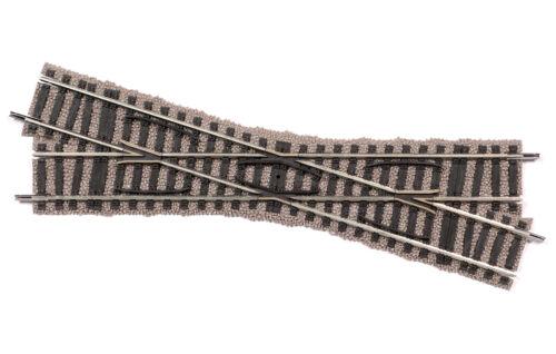+ Fleischmann 6163 h0 croisement 18 ° 200 mm + NOUVEAU /& NEUF dans sa boîte rechtskreuzend