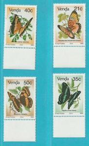 Afrique Du Sud Venda De 1990 ** Cachet Minr. 213-216 Papillons-afficher Le Titre D'origine Excellente Qualité
