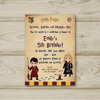 Invitation Anniversaire Harry Potter