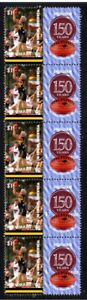 WERRIBEE-FC-VFL-150th-FOOTBALL-STRIP-OF-10-VIGNETTE-STAMPS
