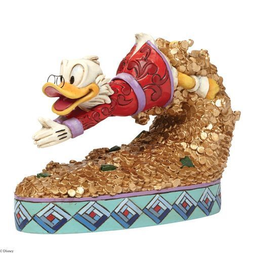 DISNEY TRADITIONS Dagobert Duck Treasure Dive NEU//OVP Uncle Scrooge Gold Figur