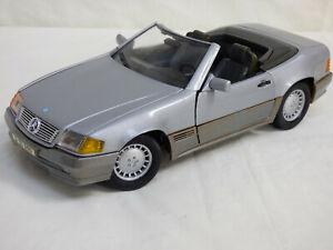 Maisto-Trophee-1-18-Plata-1989-Mercedes-Benz-500SL-R129-Cabrio-Juguete-de-coche-de-detalle