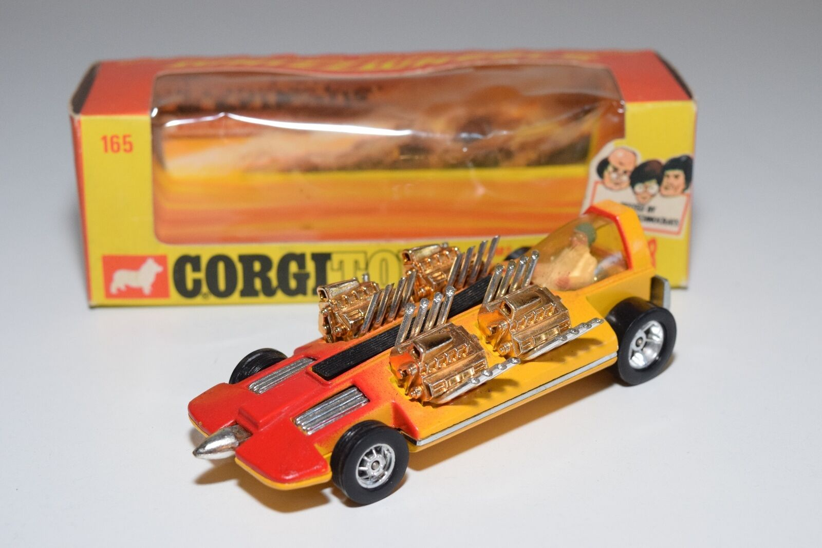 \\ CORGI TOYS 165 ADAMS 4 ENGINED DRAGSTER MINT BOXED