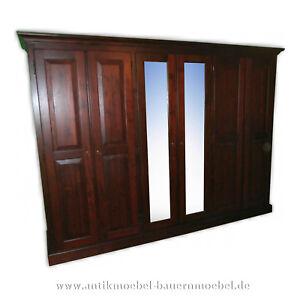 Das Bild Wird Geladen Kleiderschrank Schlafzimmerschrank Mit Spiegel Massiv  Landhausstil Weichholz