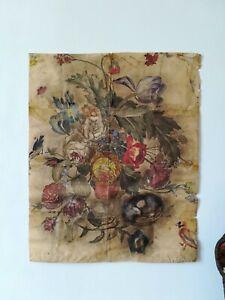 Grande-aquarelle-ancienne-environ-82x67-cm