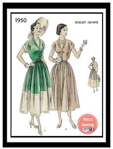 1940s-Summer-Dress-Vintage-Sewing-Pattern-Copy