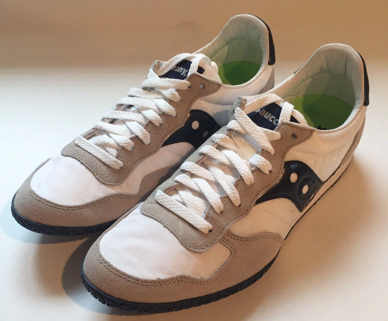 Saucony Bullet Men's Athletic shoes Size 10 White Navy Open Box 2943-38