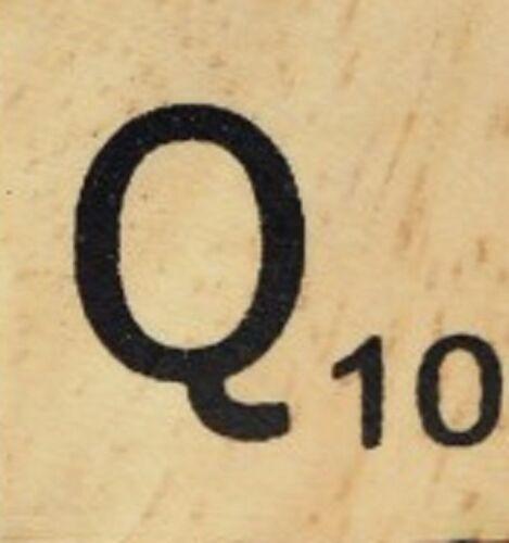 INDIVIDUAL WOOD SCRABBLE TILES read full description LETTER Q 25 cents each