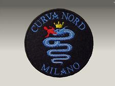 Curva Nord Milano Patch Toppa Ricamata Termoadesiva