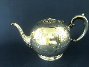 Antique Silver Plated Teapot Epbm 4