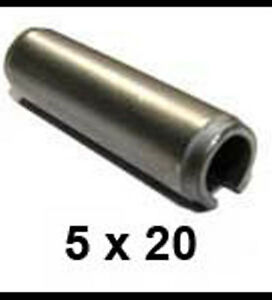 2mm x 20mm Stainless Steel Roll Pins 2 x 20 Spring Pins x25