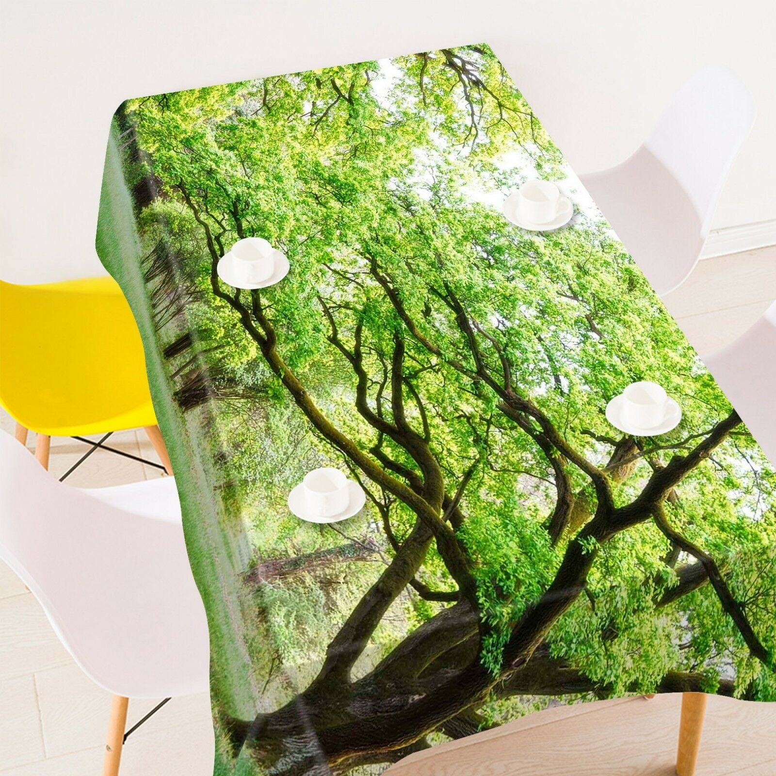 3D Plantation Tree 3 Tablecloth Table Cover Cloth Birthday Party Event AJ Summer