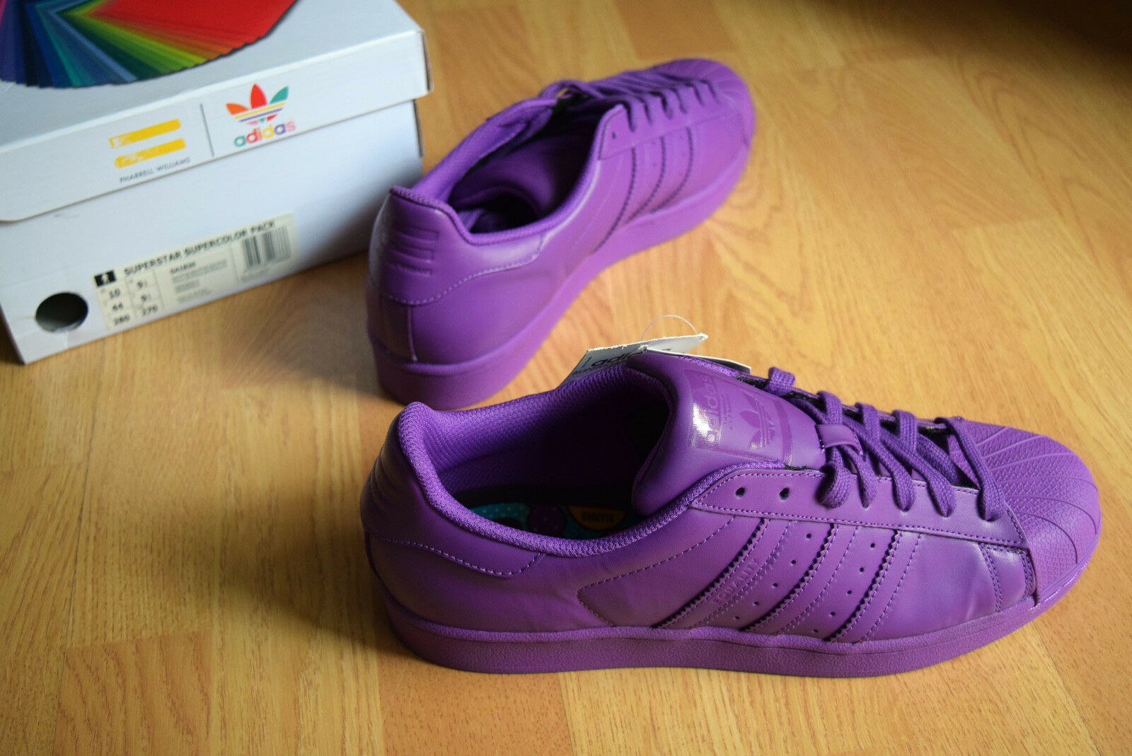 adidas Superstar Supercolor 44 44,5 45  Morado pw Pharell Williams sTan smitH pw Morado c5ce7f