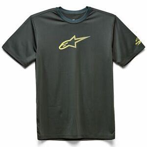 Crew Neck T-Shirt - Alpinestars Tech Ageless Performance Moister Wick - Spruce