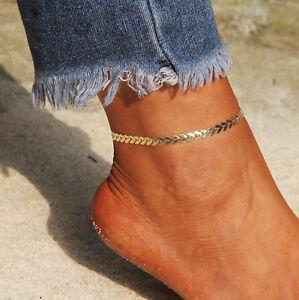 21-26,5cm Goldene Glieder ☆ Goldene Fußkette Edel & Elegant Edelmetall ☆ Refreshing And Enriching The Saliva