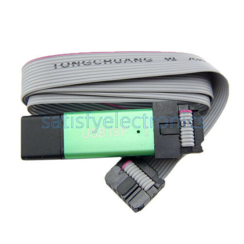 1pcs Mini USBISP USBasp Programmateur en aluminium pour 51 ATMEL AVR WIN7 64