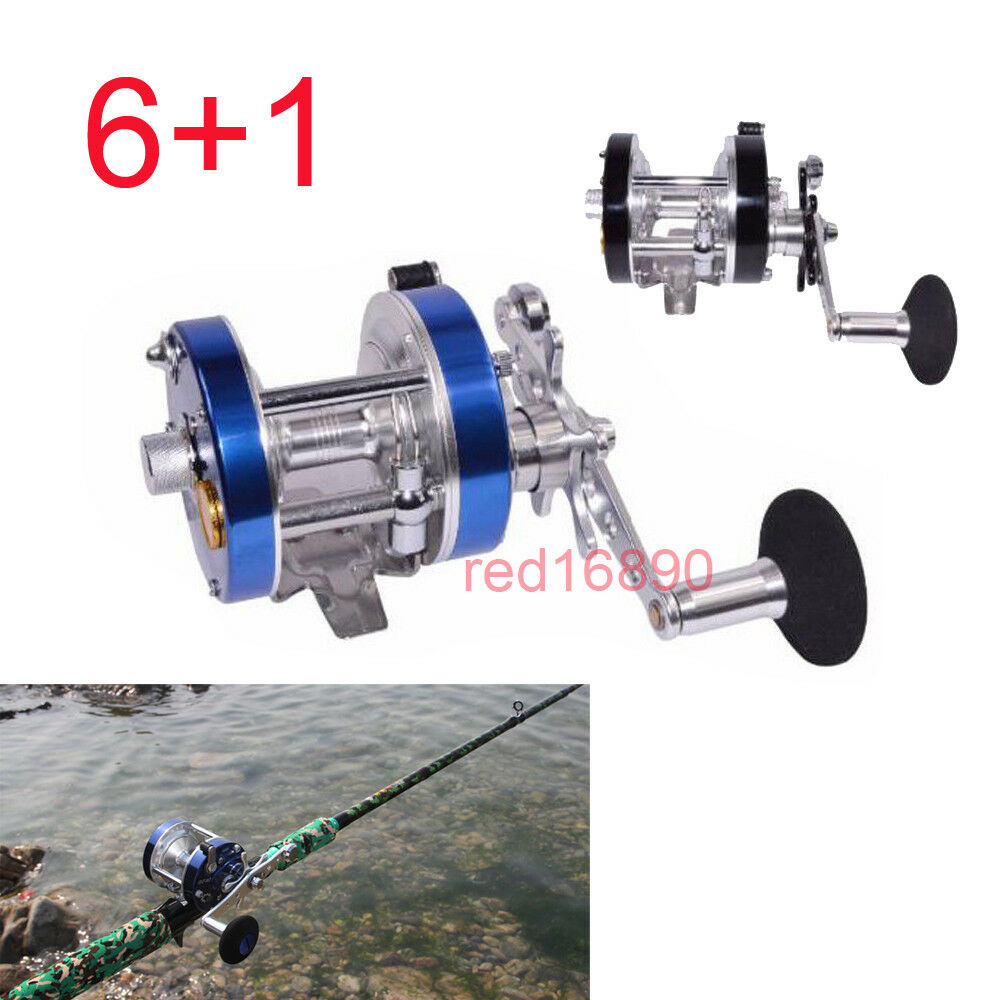 Steel R F  6+1 Baitcasting Wheel Reel Trolling Fishing Reels Bearing Drum Tool  exclusive designs