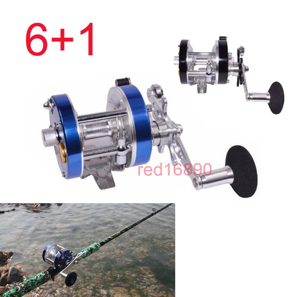 Steel R F 6+1 Baitcasting Wheel Reel Trolling Fishing Reels Bearing Drum Tool
