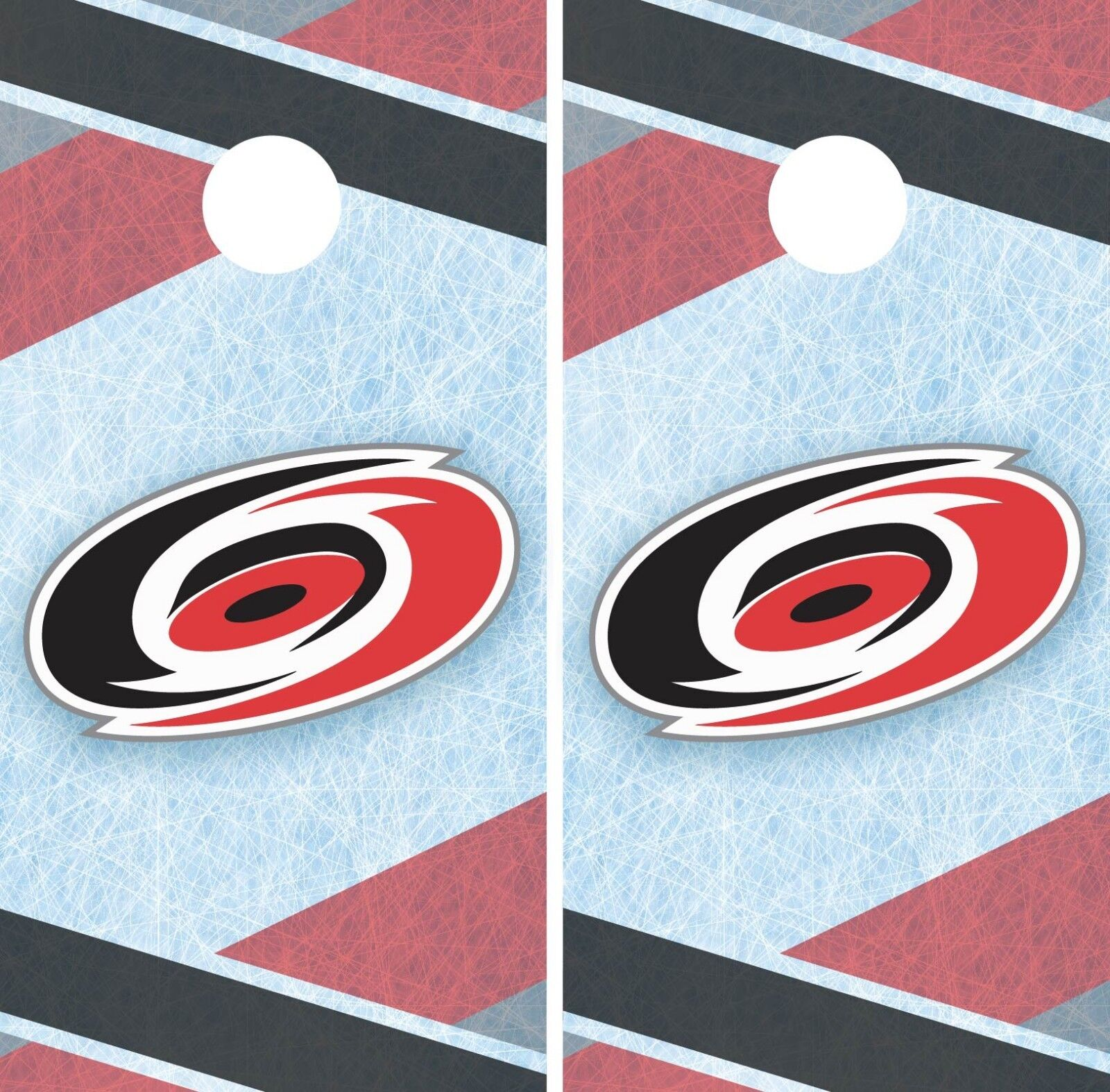 Carolina Hurricanes Cornhole Wrap NHL Game Board Skin Set Vinyl Decal CO224