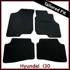 Hyundai i30 Mk1 2007 - 2012 2-clips Tailored Fitted Carpet Car Mats BLACK