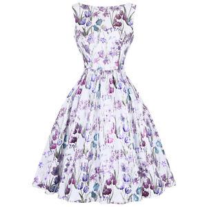 Hearts-and-Roses-London-Purple-Floral-Iris-Retro-Vintage-1950s-Summer-Tea-Dress