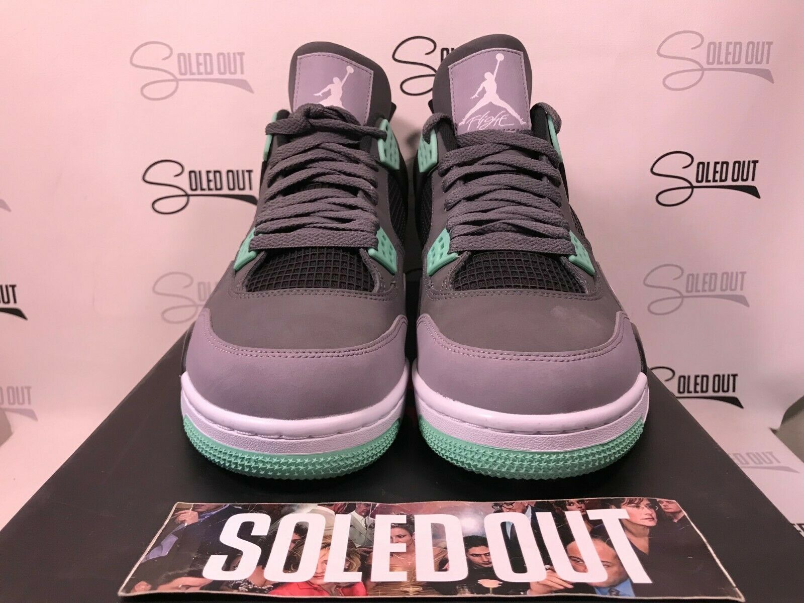 AIR JORDAN 4 RETRO  GREEN GLOW  2013 ITEM NUMBER 5950-7