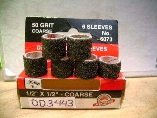 "6073 1//2/""x1//2/"" drum sander sleeves 50 grit coarse NO DD3443-4"