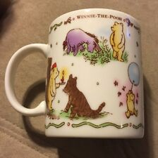 Classic Winnie the Pooh Mug/Cup Japan EUC Rare Scene Piglet, Eeyore Kanga Tigger