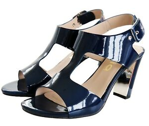 RRP-65-Womens-Strappy-Sandals-Block-Mid-High-Heel-Ladies-Open-Toe-Party-Shoes